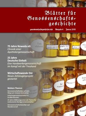 Blätter für Genossenschaftsgeschichte, Ausgabe 4 (Januar 2015)
