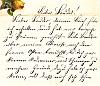Alte Handschrift: Brief in deutscher Kurrentschrift